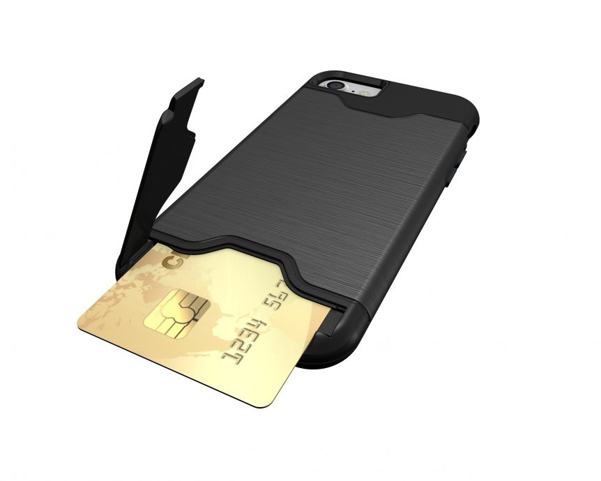PlasticSteel Credit Card Phone Case & KickStand
